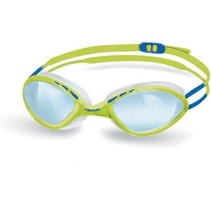 Head Tiger Race LiquidSkin Goggles blue - lime blue - lime