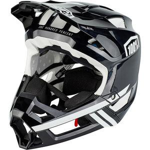 100% Trajecta Helmet black/white black/white