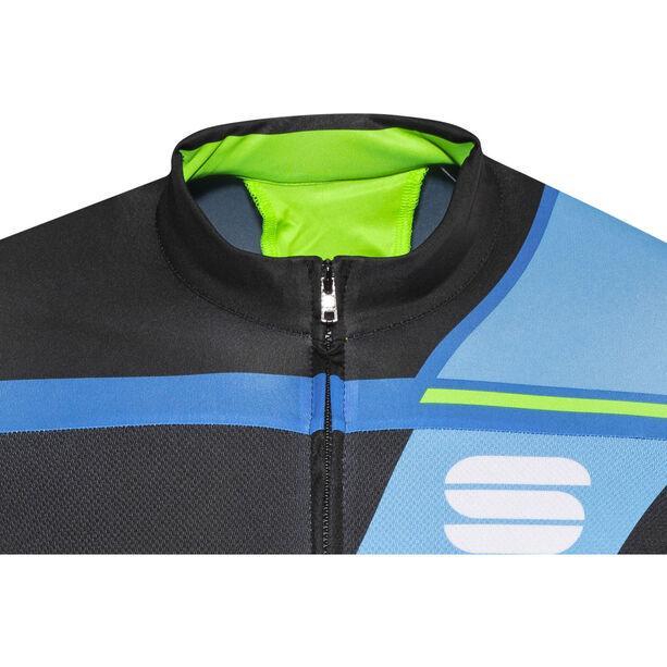 Sportful Gruppetto Pro Team Jersey Herren black/electric blue/blue/green
