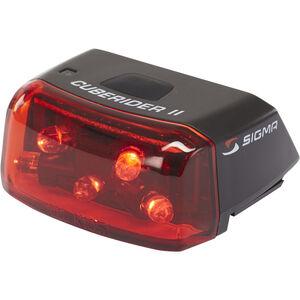 SIGMA SPORT Cuberider II LED Rückleuchte  schwarz/rot bei fahrrad.de Online