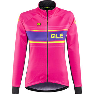 Alé Cycling Solid Sinuosa Jacket Women fluo magenta-fluo yellow