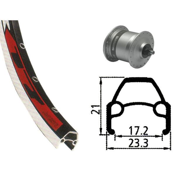 Rodi VR17 Vorderrad Vorderrad 622-17 36L mit DH-3N30 Nabendynamo silver