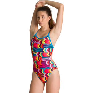 arena Geocentric Challenge Back One Piece Badeanzug Damen turquoise/multi turquoise/multi