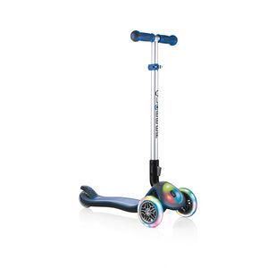 Globber Elite Prime Roller mit Batterielosen LED Blink-Rollen Kinder navy blue navy blue