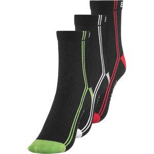 Endura CoolMax Stripe II Socks TriplePack black black