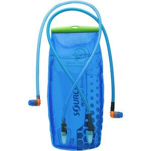SOURCE Divide Widepac Trinkblase 3 Liter transparent-blue transparent-blue