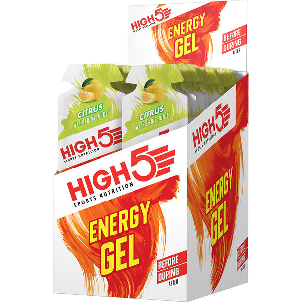 High5 Energy Gel Box 20x40g Citrus