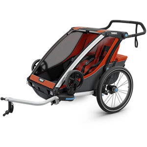 Thule Chariot Cross 2 Bike Trailer roarange/dark shadow roarange/dark shadow