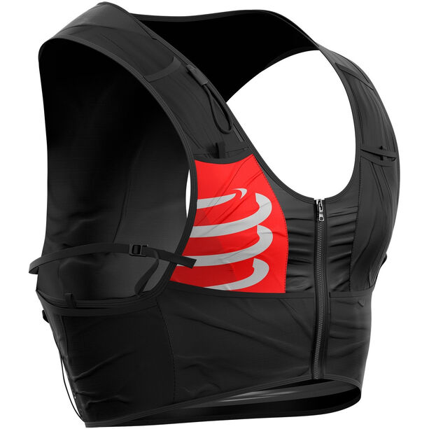 Compressport Ultrun Backpack with 2 Ergo Bottles black-red-white