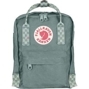 Fjällräven Kånken Mini Backpack Kinder frost green/chess pattern