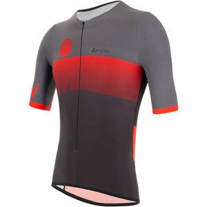 Santini Audax Aero SS Triathlon Top Herren red red