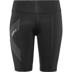 2XU Compression Shorts Mid-Rise Damen black/dotted reflective logo black/dotted reflective logo