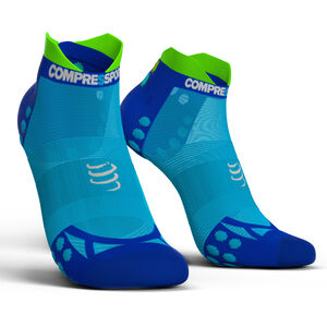 Compressport Pro Racing V3.0 UItralight Run Low Socks fluo blue fluo blue