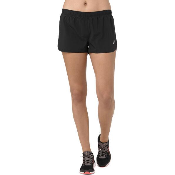 asics Silver Split Shorts Damen