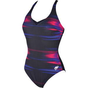 arena Kate Light Cross Back C-Cup One Piece Swimsuit Damen rose violet-navy rose violet-navy