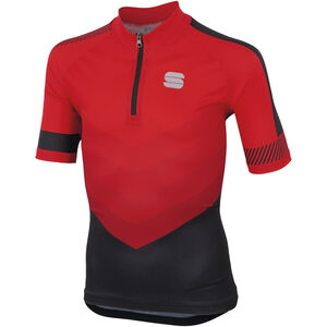 Sportful Chevron Jersey Shortsleeve Kinder red/black red/black