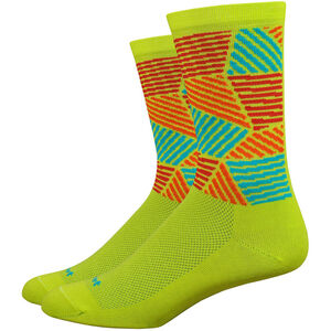 "DeFeet Aireator 6"" Socks craze/sulpher springs/hi-vis yellow/red/orange craze/sulpher springs/hi-vis yellow/red/orange"