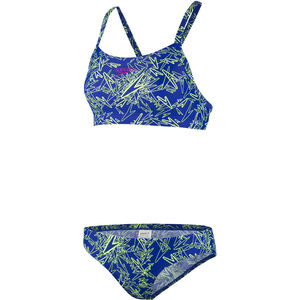 speedo Boom Allover Two-Pieces Swimsuit Damen blue/green blue/green