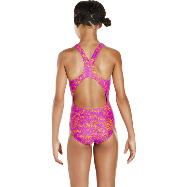 speedo Boom Allover Splashback Swimsuit Girls