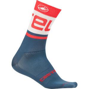 Castelli Free Kit 13 Socks light steel blue/red light steel blue/red