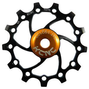 KCNC Jockey Wheel SS Bearing Narrow Wide Long Teeth 16 Zähne black black