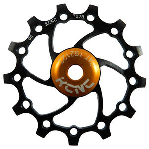 KCNC Jockey Wheel SS Bearing Narrow Wide Long Teeth 14 Zähne black black