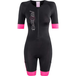 Dare2Tri Coldmax Short Sleeve Trisuit Damen pink pink