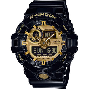 CASIO G-SHOCK GA-710GB-1AER Uhr Herren black/black/gold black/black/gold