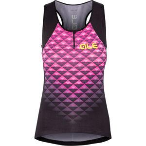 Alé Cycling Solid Hexa Tank Top Damen black flou pink black flou pink
