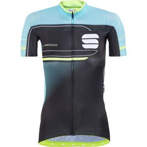 Sportful Gruppetto Pro Jersey Women black/turquoise/green fluo