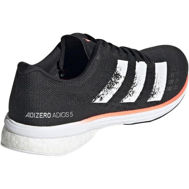adidas Adizero Adios 5 Schuhe Damen core black/footwear white/signal coral