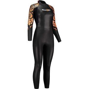 Dare2Tri To Swim Wetsuit Damen black/orange black/orange