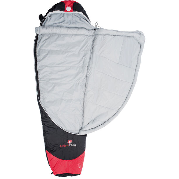 Grüezi-Bag Biopod Hybrid Wool/Down Sleeping Bag black/tango red