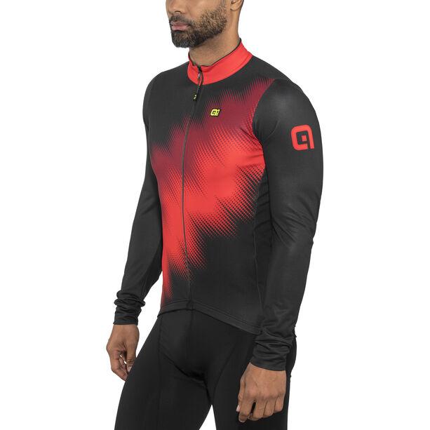 Alé Cycling Solid Pulse Longsleeve Jersey Herren black-bordeaux-red