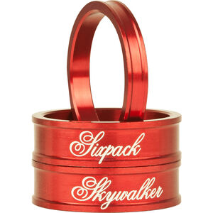 """Sixpack Skywalker Spacer 1 1/8"""" red red"""