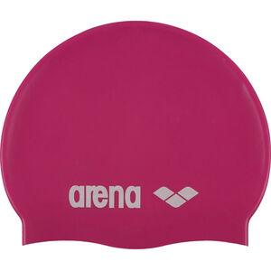 arena Classic Silicone Swimming Cap Kinder fuxia-white fuxia-white