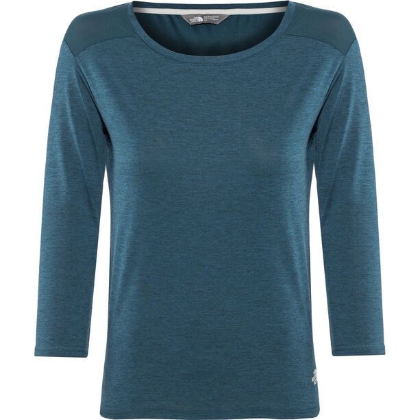 The North Face Inlux 3/4 Sleeve Top Damen blue wing teal dark heather