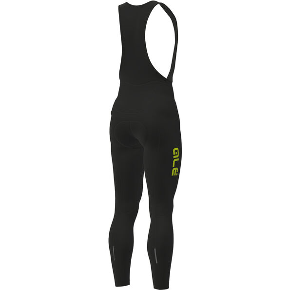 Alé Cycling Solid Winter Bib Tights Herren black-yellow fluo
