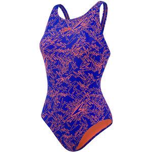 speedo Boom Allover Muscleback Swimsuit Women Ultrasonic/Fluo Orange