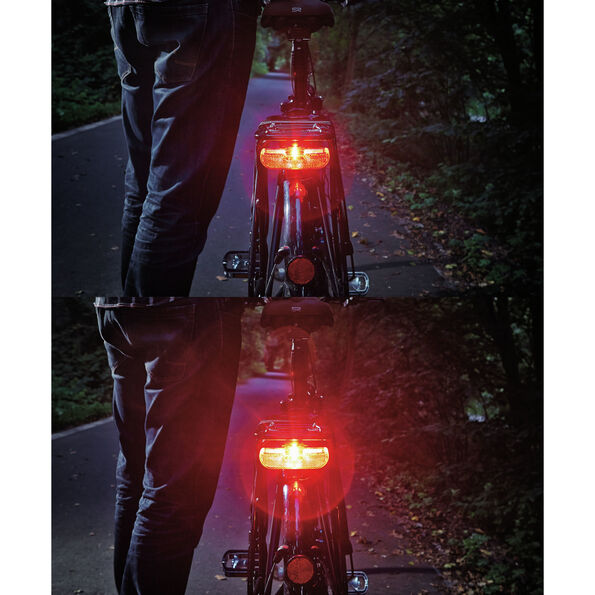Trelock LS 615 Duo Flat Signal Dynamorücklicht schwarz