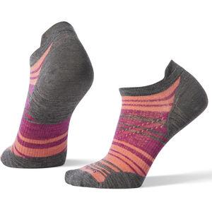 Smartwool PhD Run Ultra Light Striped Micro Socks Damen medium gray medium gray