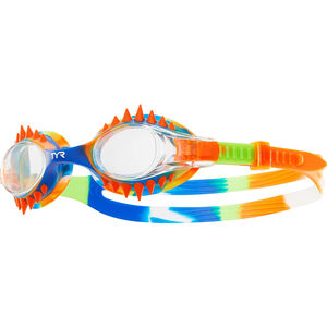 TYR Swimple Spikes Tie Dye Goggles Kinder clear/orange clear/orange