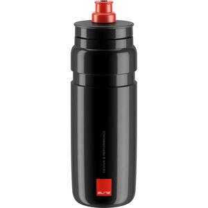 Elite Fly Trinkflasche 750ml schwarz/rotes logo schwarz/rotes logo