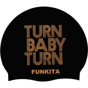 Funkita Silikon-Schwimmkappe turn baby turn gold turn baby turn gold