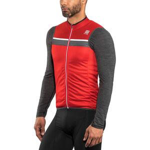 Sportful Pista Sleeveless Jersey Men Red/Anthracite/White bei fahrrad.de Online