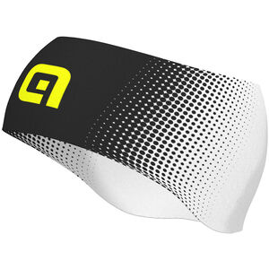 Alé Cycling Dots Stirnband black-fluo yellow black-fluo yellow