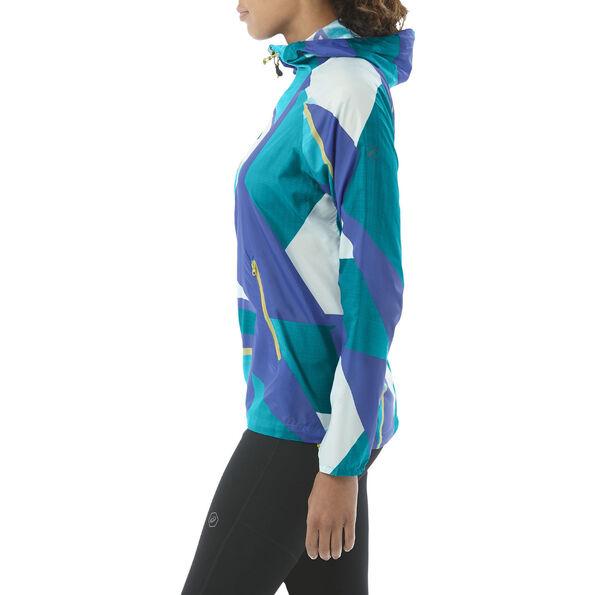 asics fuzeX Packable Jacket Damen shatter arctic aqua