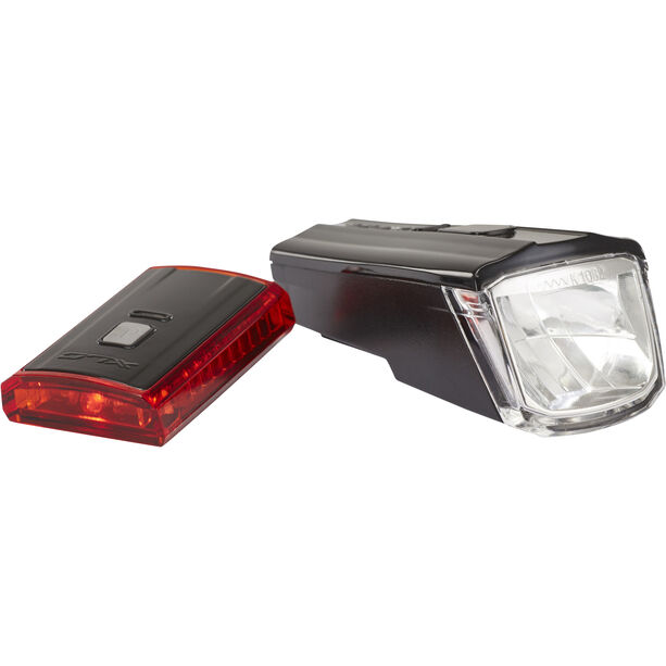 XLC Comp CL-S16 Beleuchtungs Set Titania schwarz