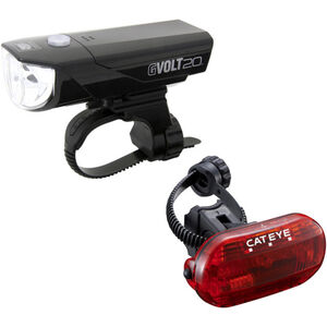 CatEye GVOLT20/OMNI3G Beleuchtungsset  EL350G/LD135G schwarz bei fahrrad.de Online