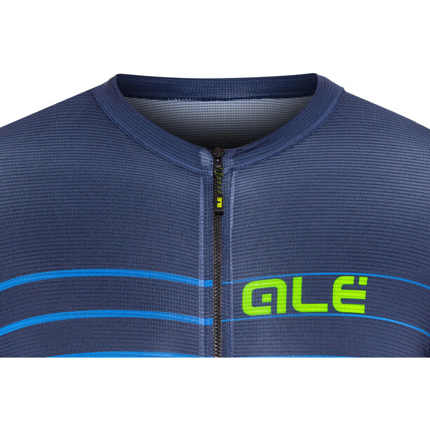 Alé Cycling Solid Ergo SS Jersey Herren blue-flou green